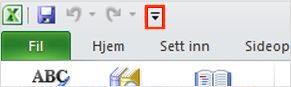 Les opp-kommandoen på verktøylinjen for hurtigtilgang i Excel