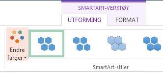 Endre farge-knapp i gruppen SmartArt-stiler