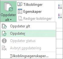 Oppdatere datatilkobling