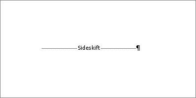 Viser et eksempel på et sideskift.