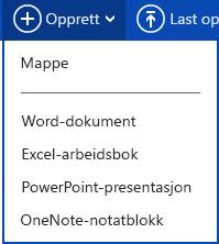 Opprette nytt dokument