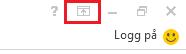 Du finner ikonet for båndalternativer øverst i høyre hjørne.