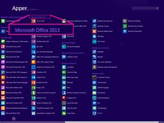Finn Office-programmet etter navn