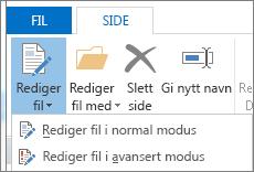 Rediger fil-knapp