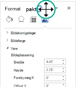 Formateringsbilde-ruten i en frakoblet status: et fri vindu