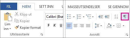 Knapp for formateringsmerker
