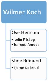Før: eksisterende organisasjonskart