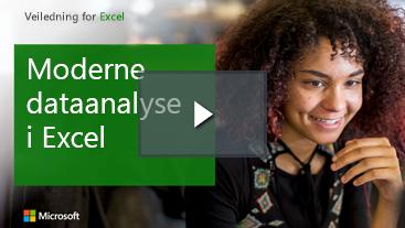 Kvinne som smiler, læringsveiledning for Excel