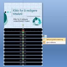 Lysbildemal med formateringsalternativer vist