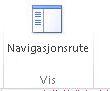 Knapp for å vise navigasjonsruten i Access