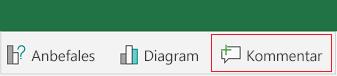 Legge til en kommentar i Excel for Android