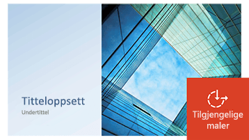 Eksempel på en PowerPoint-mal som er oppdatert for å være tilgjengelig.