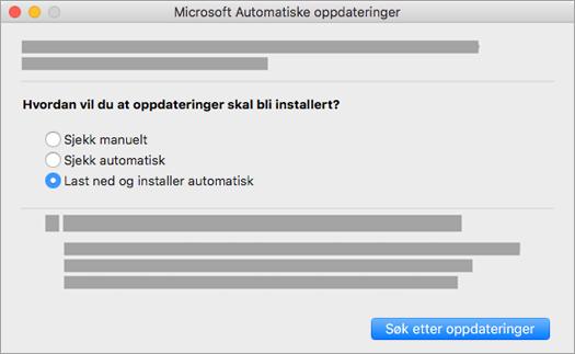 Microsoft Automatiske oppdateringer for Mac