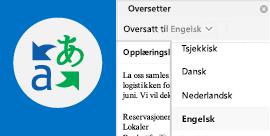 Lese e-post fra Outlook i foretrukket språk