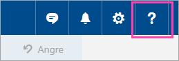 Et skjermbilde av knappen Hjelp-menyen
