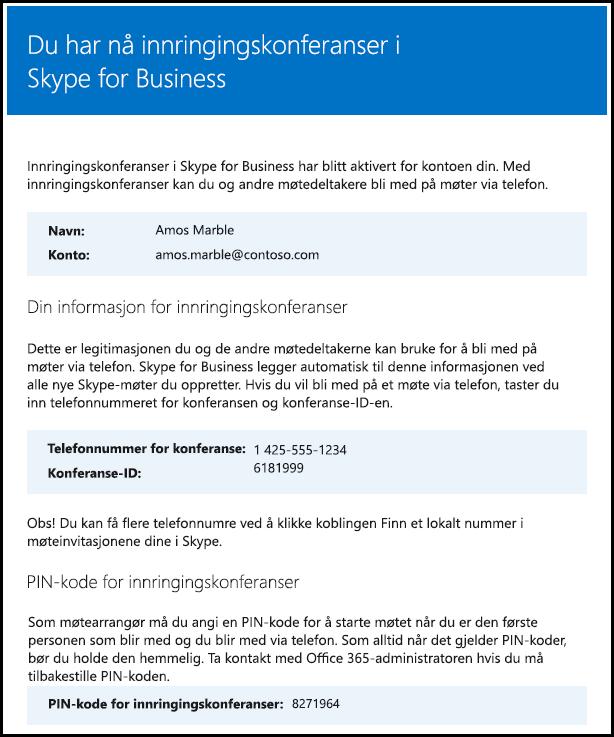 Bekreft lisens for Skype for Business