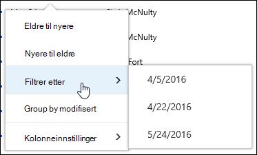 Filtrere dokumentvisning biblioteket i Office 365