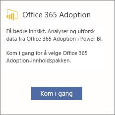 Velg Kom i gang på innføringskortet for Office 365