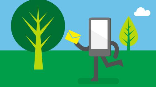 Med Office 365 kan du få tilgang til e-post og kalender mens du er på farten