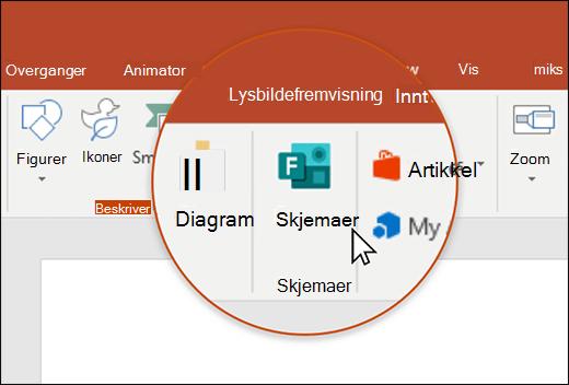 Skjemaer-ikonet i PowerPoint