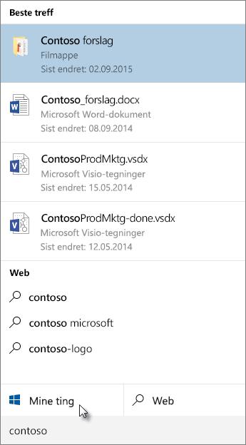 Søk i Windows-skrivebordet