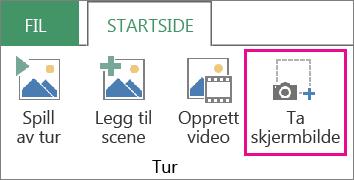 Capture Screen (Ta skjermbilde) på Home (Hjem)-fanen