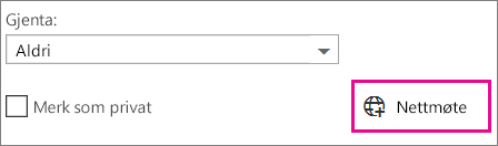 Nettmøte i Outlook Web App