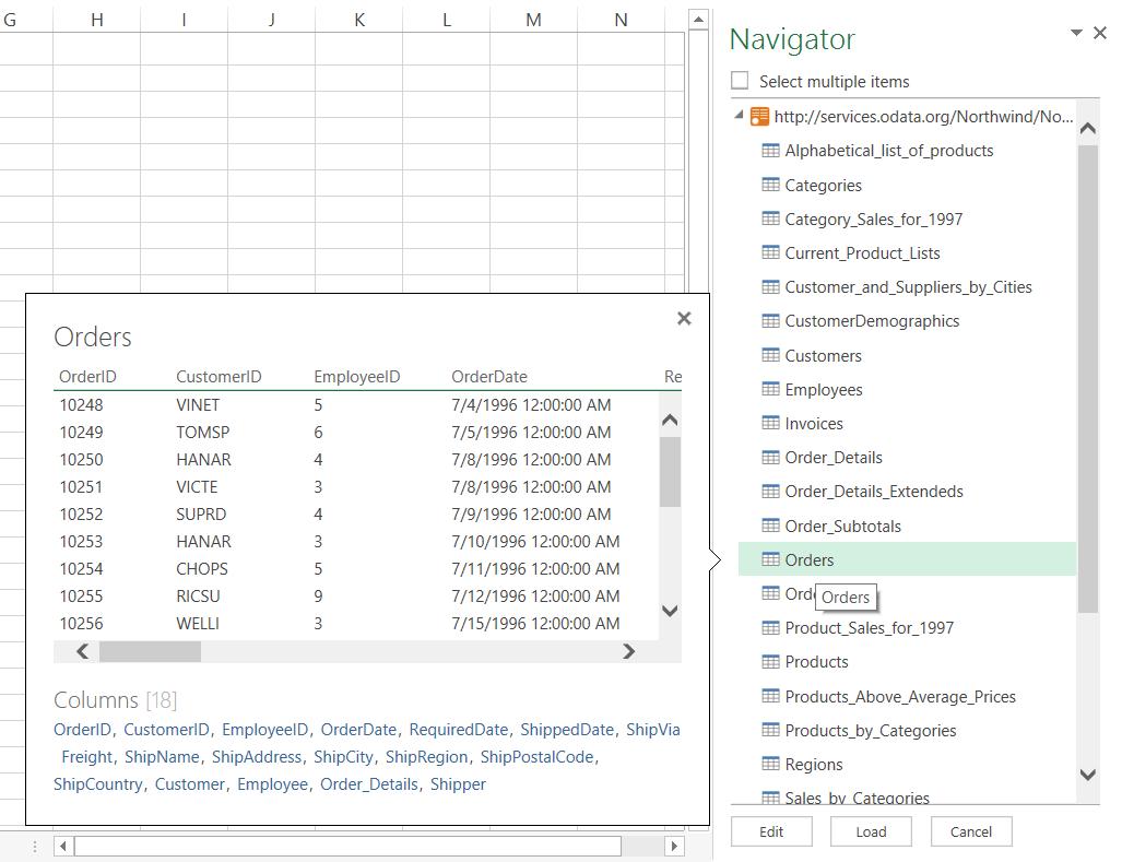 Hold musepekeren over en datakilde