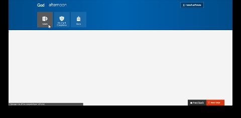 Viser administrator-flisen i Microsoft 365-portalen