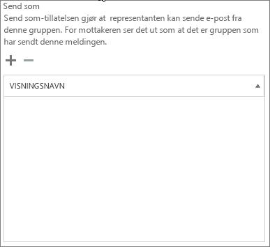 Skjermbilde: Velg plusstegnet for å legge til brukerne som du vil sende som Office 365-gruppe