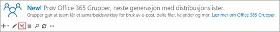 Klikk eller trykk oppgraderingen til ikonet for Office 365-grupper