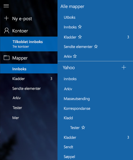 Windows 10 E-post Hvordan Lage Mapper