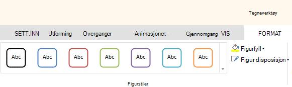 Figur-verktøy i Office Online