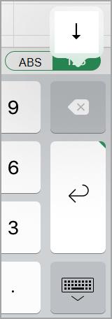 Linjeskift-knappen