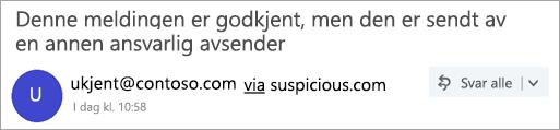 Et skjermbilde av via-merket