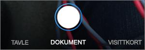 Skannealternativer for OneDrive for iOS