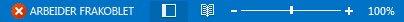 Indikatoren Arbeider frakoblet på statuslinjen i Outlook