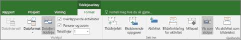 Formater-fanen Tidslinjevisning