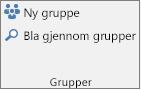 Nye Gruppe- og Bla gjennom grupper- knapper på båndet