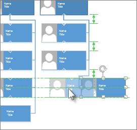 Støttelinjer for justering og plassering