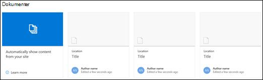 Webdelen for SharePoint-dokumenter