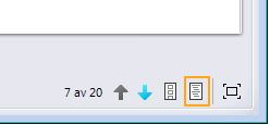 Vis presentasjonsnotater-knapp