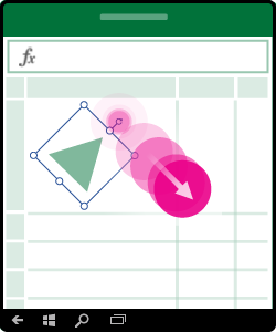 Grafikk som viser hvordan man roterer et objekt