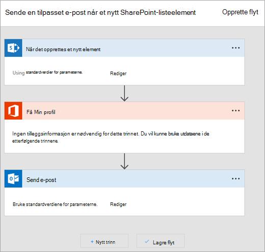 Følg instruksjonene på webområdet for Microsoft Flow å koble flyten