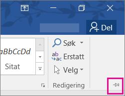 Velg PIN-koden for å feste båndet til siden slik at den forblir der, øverst til høyre på skjermen.