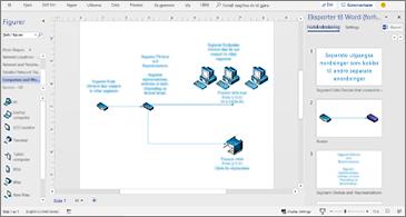 Prosessdokument i midten og ruten Eksporter til Word til høyre