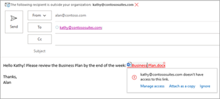 Viser brukervennlige koblingsnavn for vedlagte dokumenter