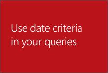 Bruke datokriterier i spørringer