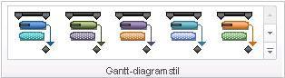 Bilde av gruppen Gantt-diagramstiler