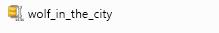 Zip-filen for skriften Wolf in the City.